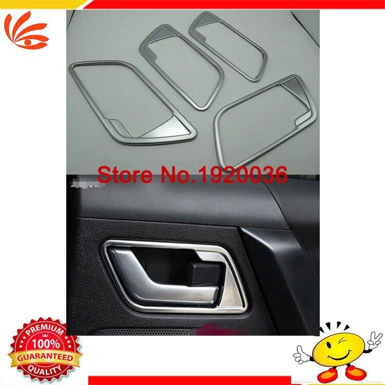 Car Interior Door Handle Cover Frame Trim ring Trim For FREELANDER 2 free shipping