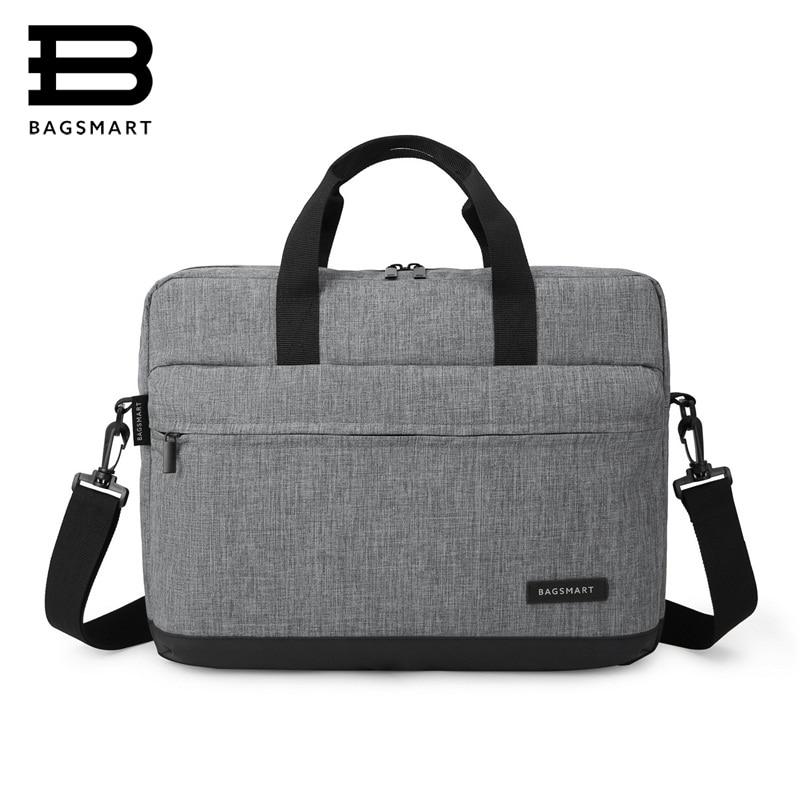2a4da48590 BAGSMART New Men 15.6 Inch Laptop Briefcase Bag Handbag Mens Nylon  Briefcase Men s Office Bags Business Computer Bags