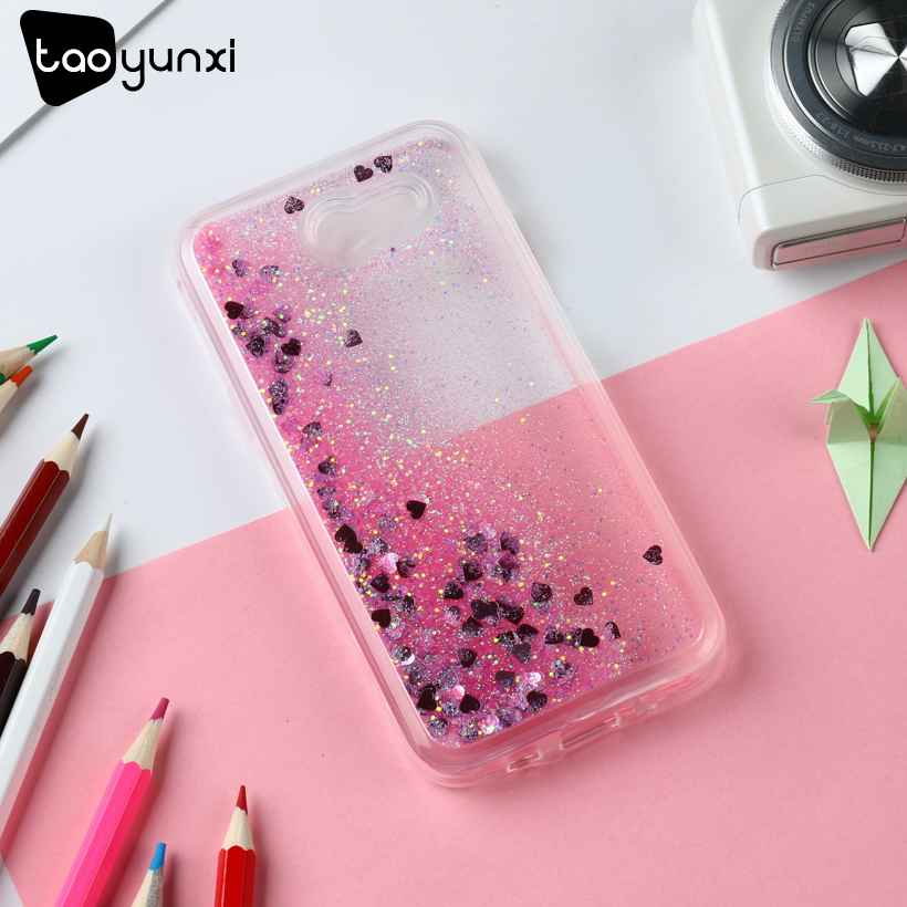 TAOYUNXI Glitter Stars Cases For Samsung Galaxy J3 Prime Case Dynamic Liquid Soft J3 Eme ...