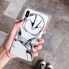 Soft Silicone Case TPU Cases For iPhone 7 Plus 8 Plus XR Xs X Xs MAX Case Super Hero Cover For iPhone 7 8 6 6s Plus Case цена и фото