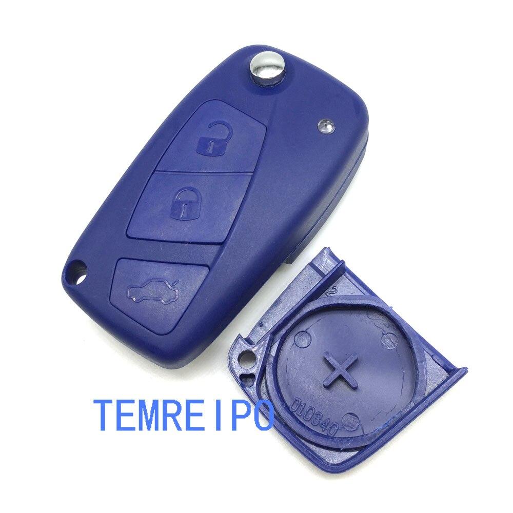 3 Buttons Flip Remote Key Shell for FIAT Punto Ducato Stilo Panda Idea Doblo Bravo Keyless Fob Case Car Alarm Cover Housing
