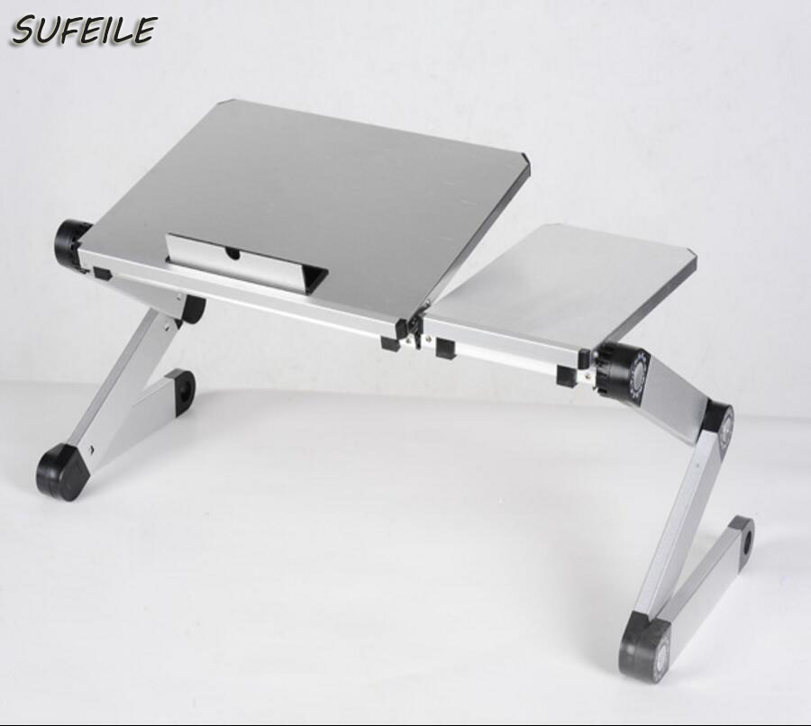 ФОТО SUFEILE 360 rolling Adjustable Folding Laptop Table Picnic Folding desk Laptop Table Stand Computer Notebook Bed Tray SI1D5