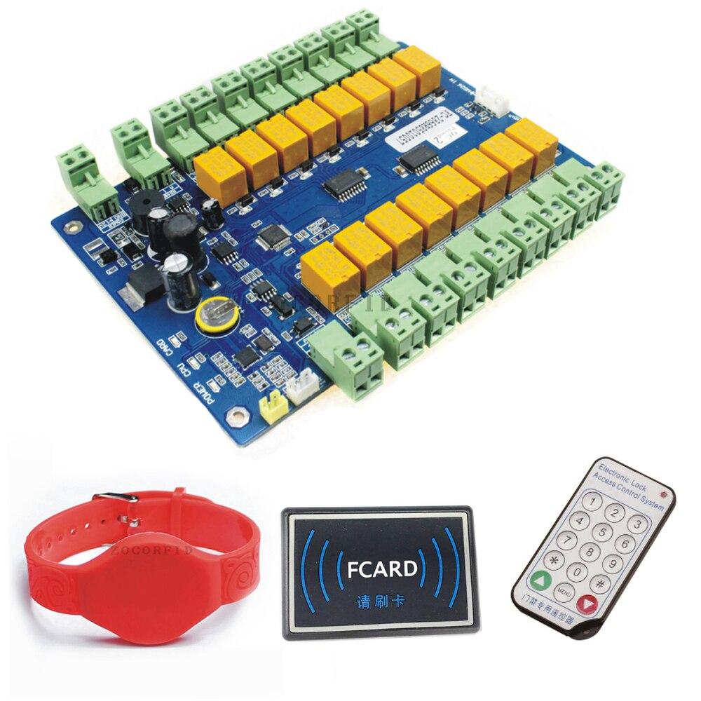 Güvenlik ve Koruma'ten Erişim Kontrol Kitleri'de DC12V RFID 13.56 MHZ önlemek yazılım saklama kilidi Erişim kontrol panosu Paneli Denetleyicisi 16 Kapı kilidi title=