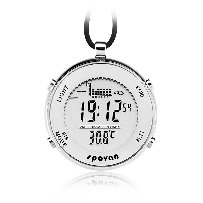 Fishing Pocket Watch Multifunctional EL Backlight Water Resistant Altitude Meter Barometer Thermometer Wristwatch