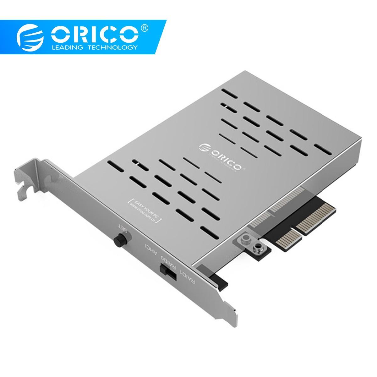 ORICO PRS2 Desktop M.2 SSD PCI-E Cartão de Matriz De Disco de Aço Inoxidável de Alta-velocidade de Expansão do Disco Rígido Raid Cartão