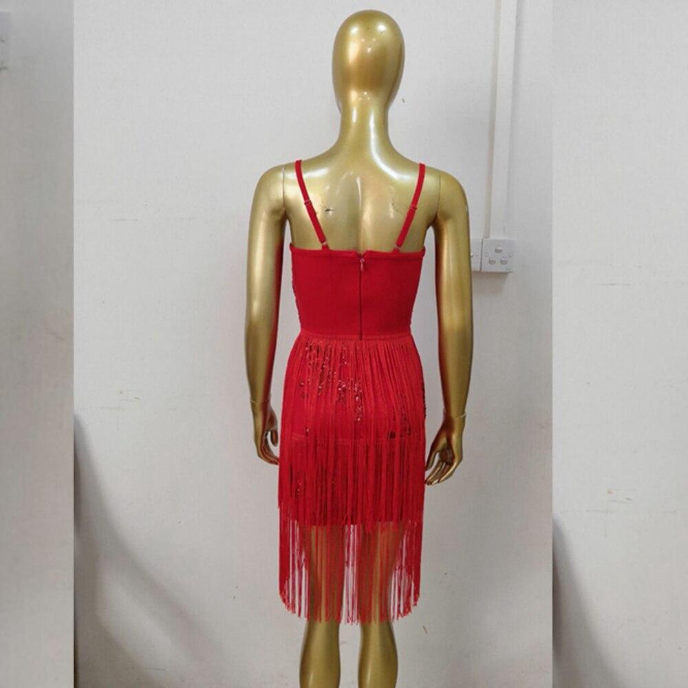 Out Élégant Celebrity Nu Fashion 2018 Rouge Gland Robes Sexy Nouveau Bodyocn Spaghetti Night Sangle D'été Femmes Dos Sequin gqgra