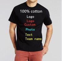 Diy Individuelles Logo Ihre Eigenen Design männer und frauen T-Shirts Custom t shirts Text Foto Team Druck Bekleidung werbung t shirts