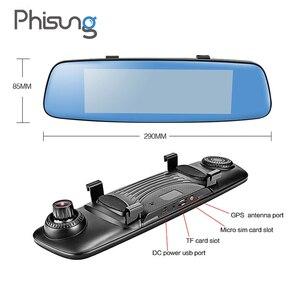 "Image 5 - Phisung E06 4G Auto DVR 7.84 ""Touch ADAS Remote Monitor achteruitkijkspiegel met DVR en camera Android dual lens 1080P WIFI dashcam"