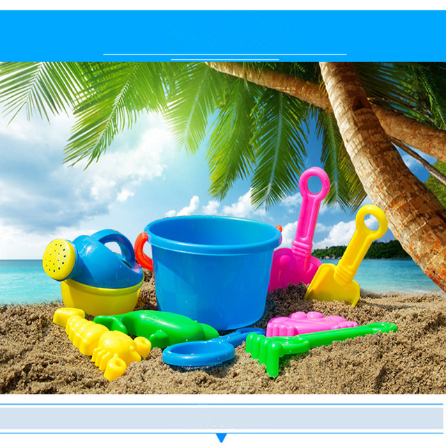 Best Er High Quality 10pcs Sand Sandbeach Kids Beach Toys Castle Bucket Spade Shovel Rake Water