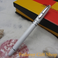 Picasso G608 Metal Case Ballpoint Pen Gloss White RollerBall Pen Silver Diamond Clip 6 Color Optional