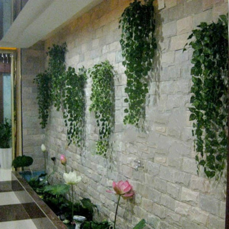 Home-Decor Vine Flowers Wreath Creeper Garland-Plants Fake Foliage Artificial-Ivy-Leaf
