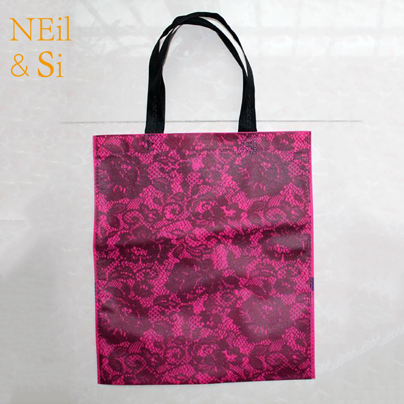 Handle Lace Bag Shopping Shopping Mall T-shirt Wedding Gift Favor Package Eco Bags Free Shipping 30*35cm
