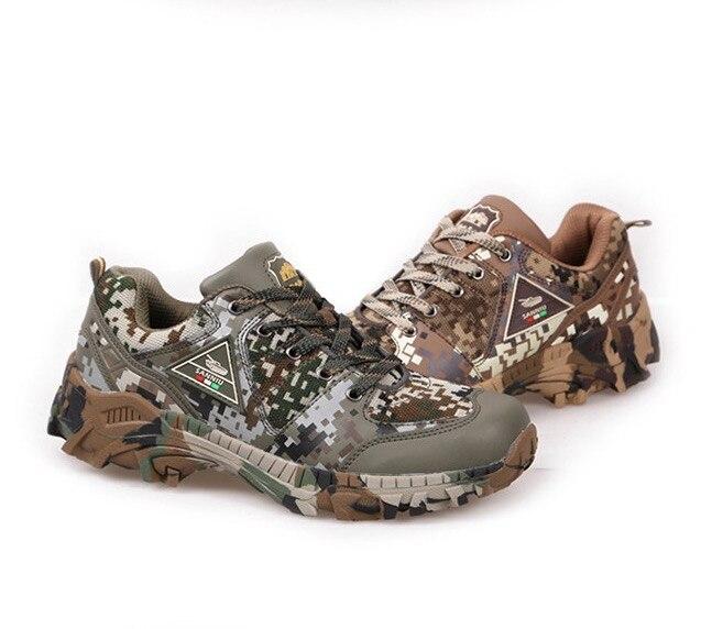 2019 hommes tactique militaire formation trekking Combat randonnée chaussures armée Camouflage désert extérieur bottes camo rock montagne chaussures