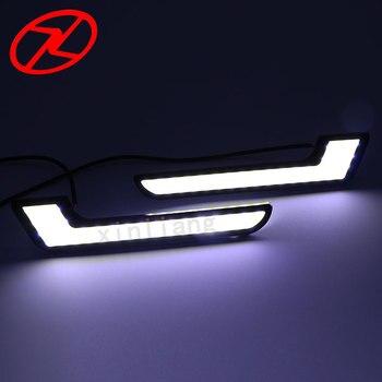 2pcs Universal COB LED Daytime Running Lights automobiles L - Shape DRL Lighting 6