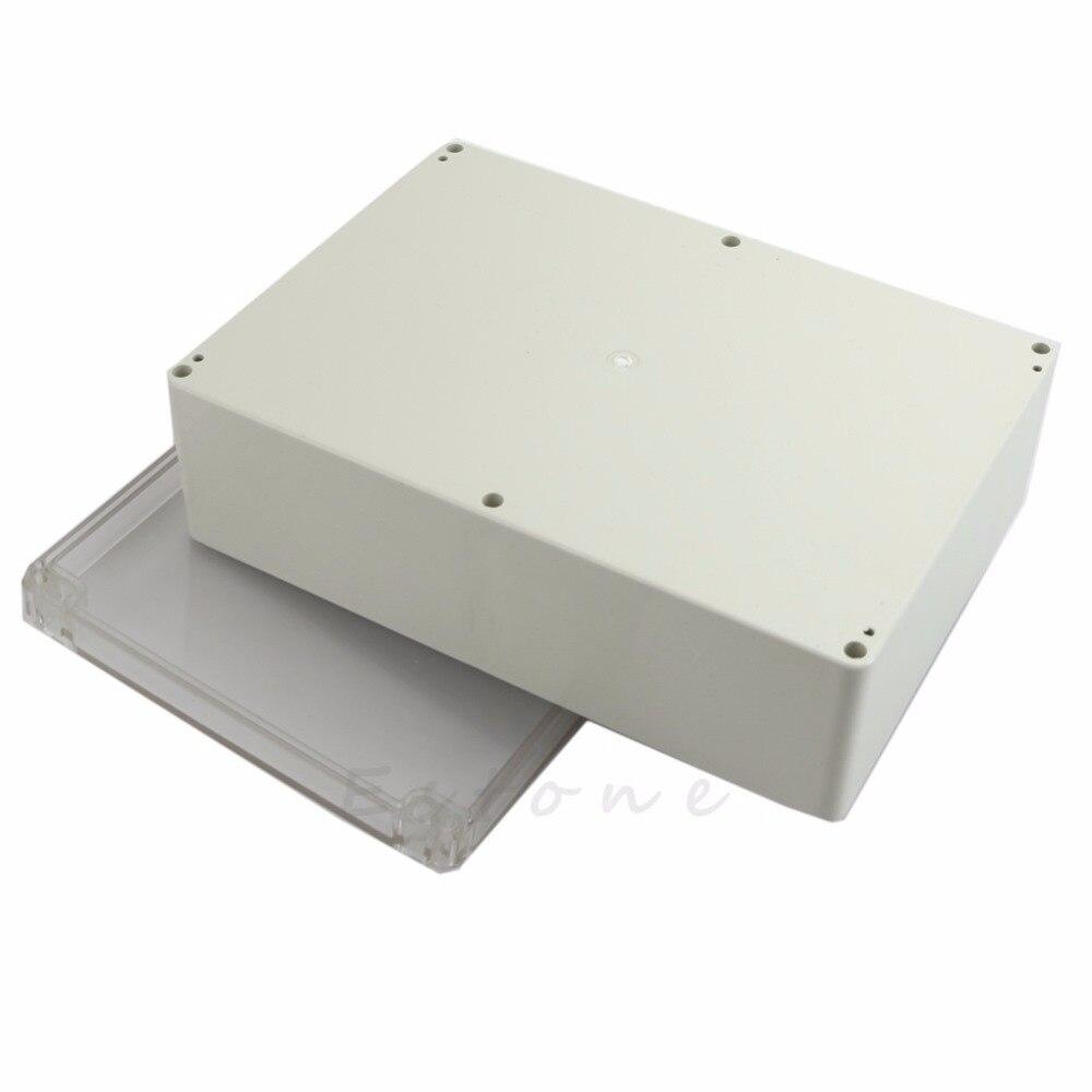 ootdty 265x185x95 мм прозрачный пластиковый электронный водонепроницаемый корпус проект закрытый корпус apr5_30