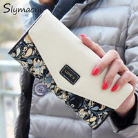 2016 New Fashion Women Wallets 5 Colors Floral Wallet Long Popular Portable Change Purse Delicate Casual