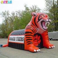 2019 специальный дизайн голова тигра гигантская рекламная надувной туннель канал прохода для спорта