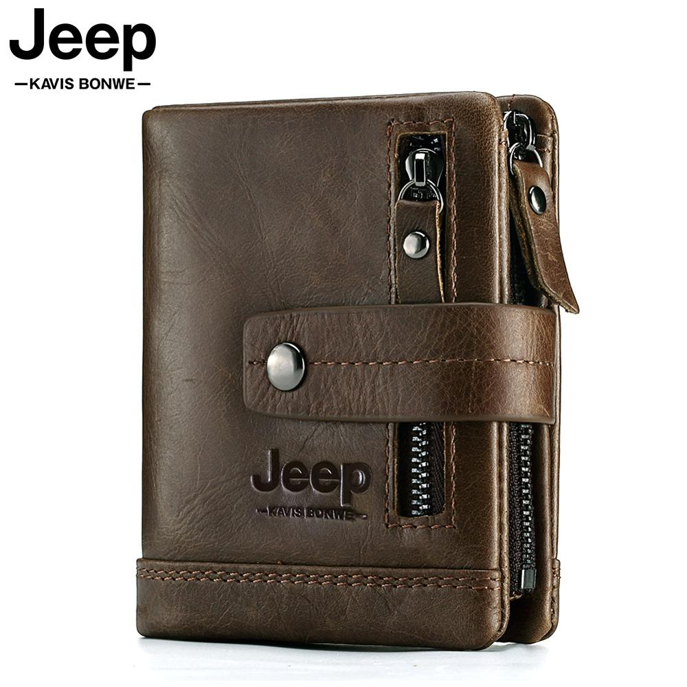 2019 100% Genuine Leather Men Wallet PORTFOLIO Male Cuzdan Small Portomonee Perse Coin Purse Fashion Money Bag For Boys