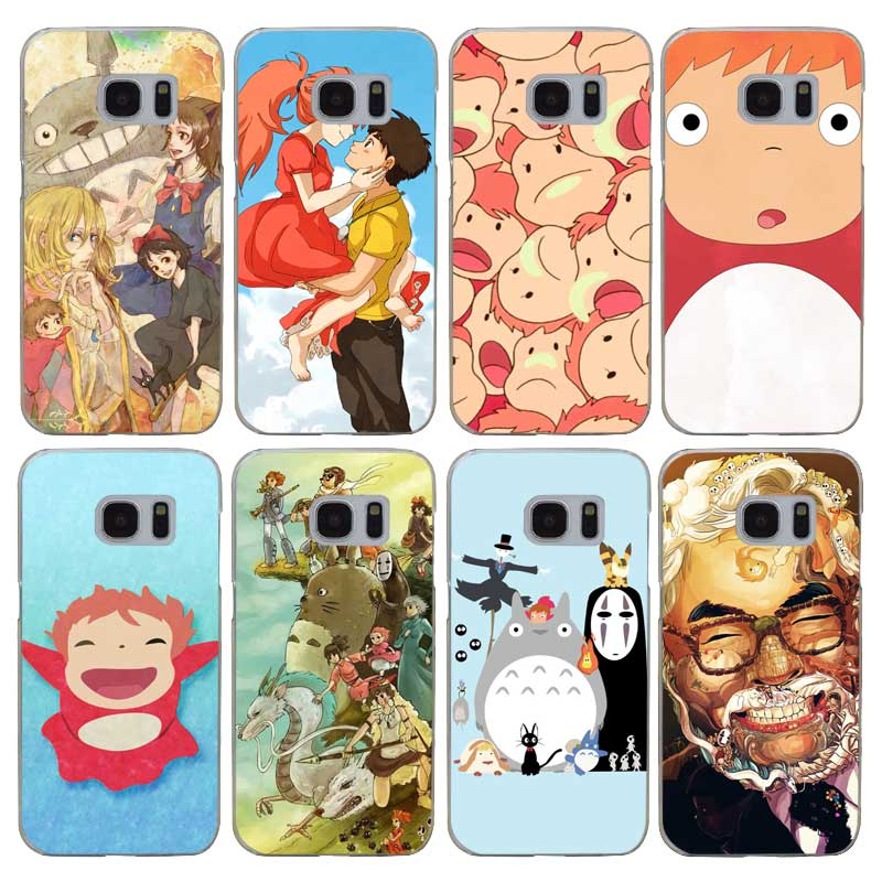 H202 Ponyo On The Cliff Transparent Hard PC Case Cover For Samsung Galaxy S 3 4 5 6 7 8 Mini Edge Plus Note 3 4 5 8