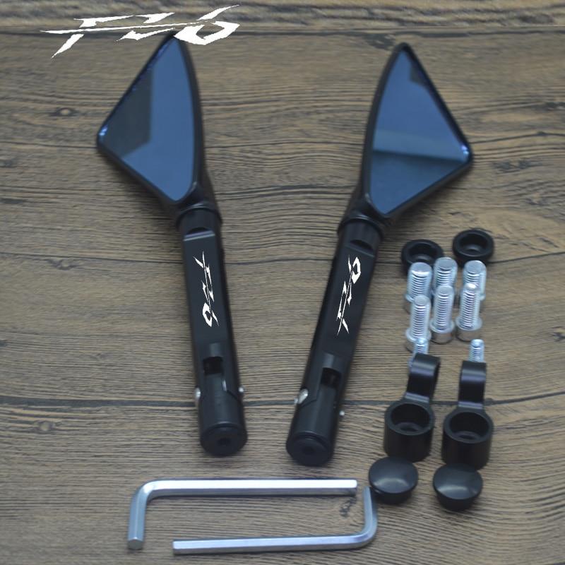Боковое зеркало заднего вида для YAMAHA FZ6, мотоциклетные зеркала с ЧПУ из алюминия, FZ6N, FZ6S, FAZER