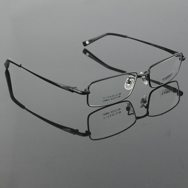 Luz dos homens de titânio puro óculos de aro cheio óculos de armação óculos de grau YASHILU 9867 4 cores