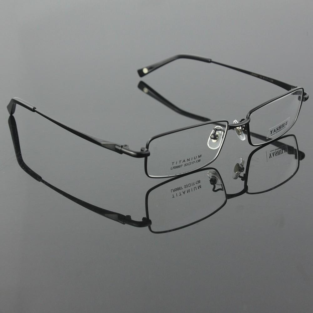 95ba38e5a0 Pure titanium men s full rim eyeglasses light glasses frame prescription  glasses YASHILU 9867 4 colors-in Eyewear Frames from Men s Clothing    Accessories