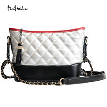 FuAhaLu Trendy fashion rhombic wandering bag Korean version of the wild chain shoulder Messenger