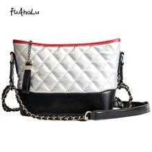 FuAhaLu Trendy fashion rhombic wandering bag Korean version of the wild chain shoulder Messenger bag цены