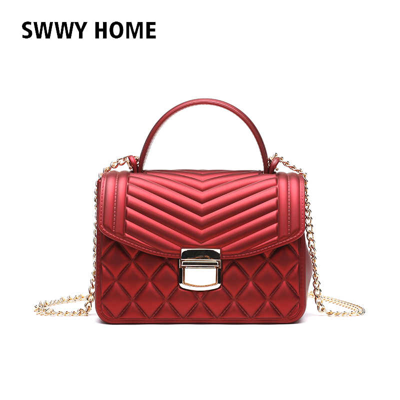 0a20577f71 Fashion Small Flap Bag Crossbody Bags Women Luxury Quilted Plaid Chains Shoulder  Handbag Famous Brand Design