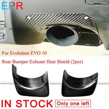Pour le bouclier thermique Exhuast de pare-chocs arrière de Fiber de carbone d'evolution EVO 10 (2 pièces) pour des pare-chocs de Fiber brillants de Mitsubishi