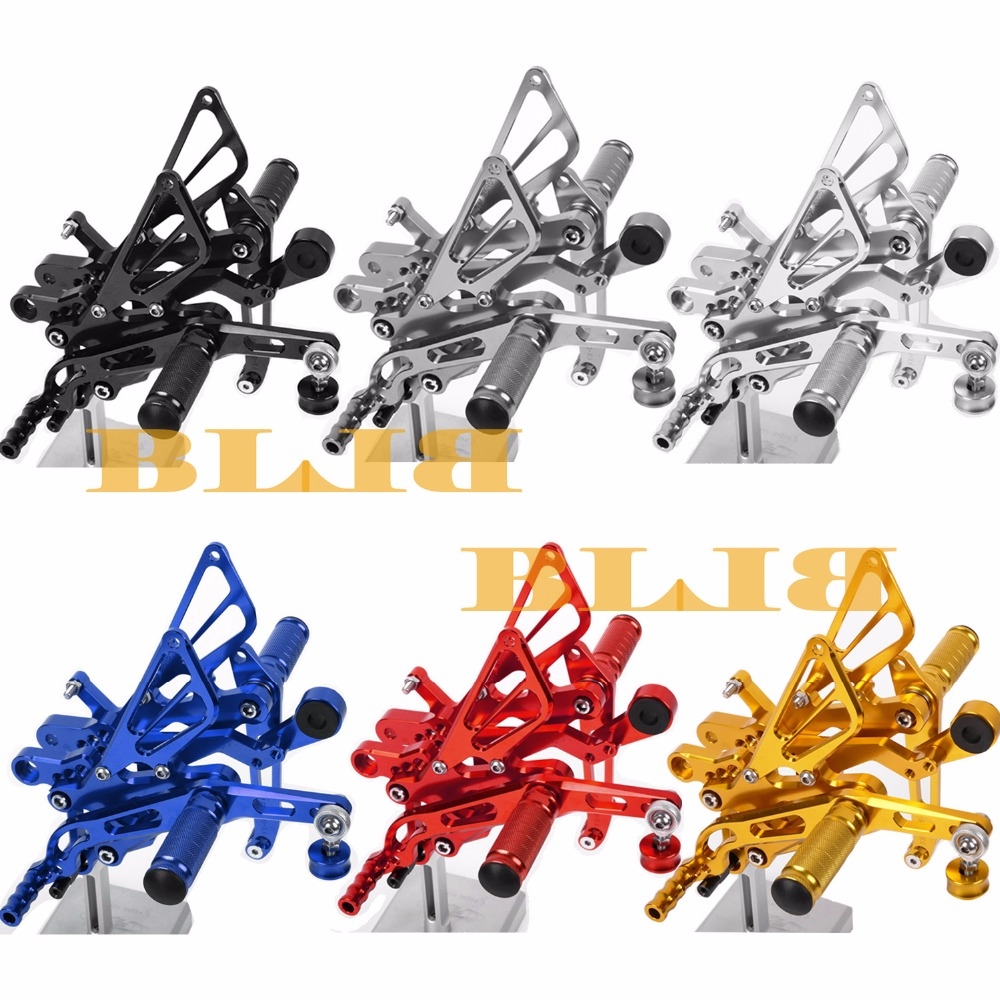 8 Colors CNC Rearsets For Yamaha YZF R6 2006 - 2015 Rear Set Motorcycle Adjustable Foot Stakes Pegs Pedal 2011 2012 2013 2014