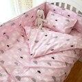 3 pcs 1 conjunto conjunto fundamento Do Bebê para o bebê recém-nascido incluindo capa de edredão folha plana fronha personalizável para seu bebê berço