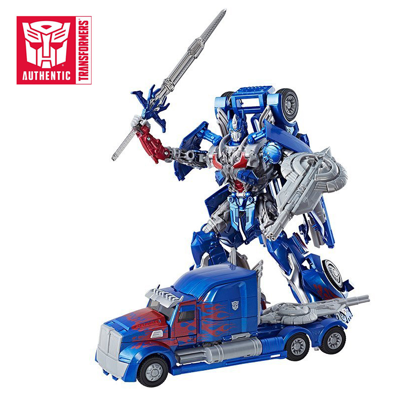 22cm Hasbro Transformers Toys The Last Knight Premier Edition Leader Class Optimus Prime PVC Action Figure Collection Model Doll hasbro transformers toys the last knight premier edition voyager class autobot hound action figure collection model car toy