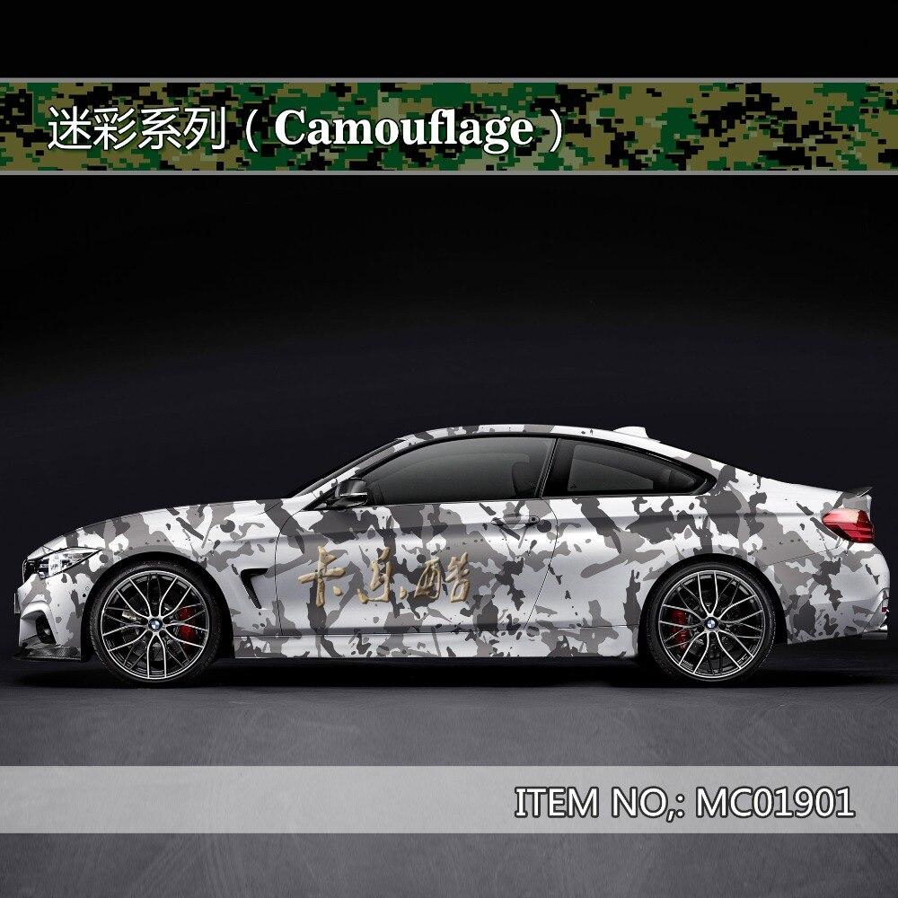 Camouflage personnalisé autocollant de voiture bombe Camo Enveloppe de Vinyle De Voiture Wrap Avec Air Sortie flocon de neige bombe autocollant De Voiture Corps StickerMC019