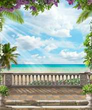 photo studio background cloth 10x20ft Sea Scenery Beautiful Sky Photographic Vinyl Backdrop For Kids/Baby/Children fond