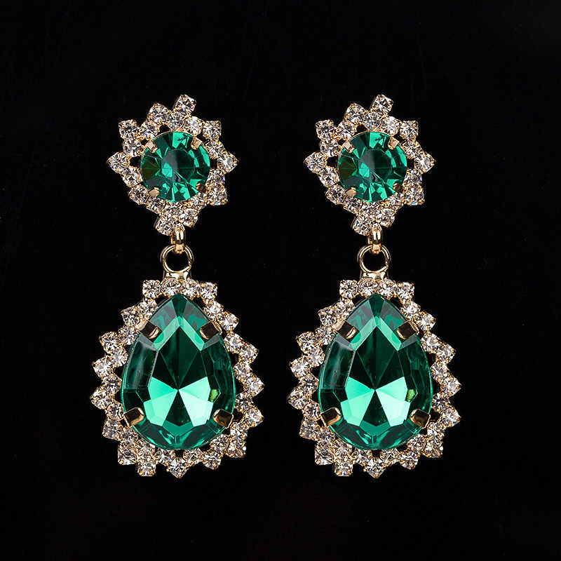 YFJEWE Fashion Luxury Elegant Gem Rhinestone Drop Earring For Women Vintage Earrings Jewelry Accessories Drop Shipping  #E067