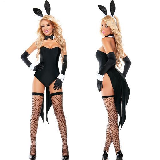 Эротичный костюм с ушками зайчика купить фото 245-377