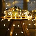 6m DIY Fairy Christmas Led String Lights Festival Decoration Stars Lights Christmas Tree Garland Home Ornament Battery Powered