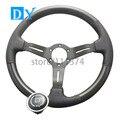 New 14inch 350mm Carbon Fiber Steering Wheel Universal Racing Car Leather Steering Wheel
