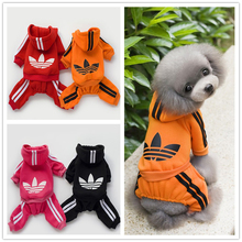 Dog Clothes Four Legged Puppy Clothes Cotton Hoodies Dog Clothing Winter Clover Sweater Dog Pets Clothes for Small & Meduimn Dog