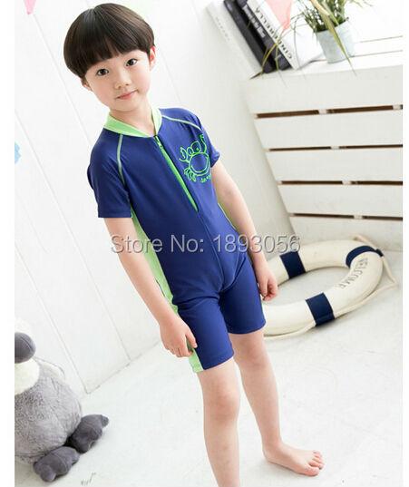 54f928efbf Boy One Piece Swimsuit Baby Child Boy Korean Fashion Children's Clothing  Summer Swimming Wear Bathing suit Beach Surfing Clothes