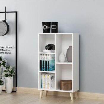 eenvoudige boekenplank moderne rekken planken dik materiaal rooster kast gratis combinatie boekenkast lager sterke