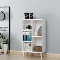 Simple bookshelf Modern racks Shelves Thick material lattice cabinet Free combination bookcase Bearing strong