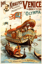 Vintage Performing Circus Poster Imre Kiralfy Venice at Olympia Classic Canvas Paintings Wall Posters Stickers Home Decor Gift(China)