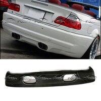 MVR Style Carbon Fiber Rear Lip Bumper Spoiler Diffuser for BMW E46 M3 Car Styling