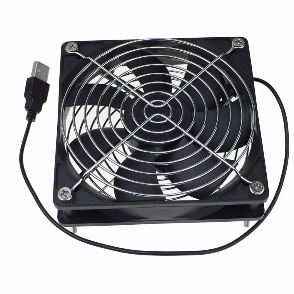 Computer pc 120mm fan TV Box Wireless Router Cooling usb3.0 usb 5V cable interface 120X120X25mm Pet box Heatsink Cooler 5v brushless usb 12cm mute silent fan computer pc case cooler wireless router cooling tv box fan with protective net