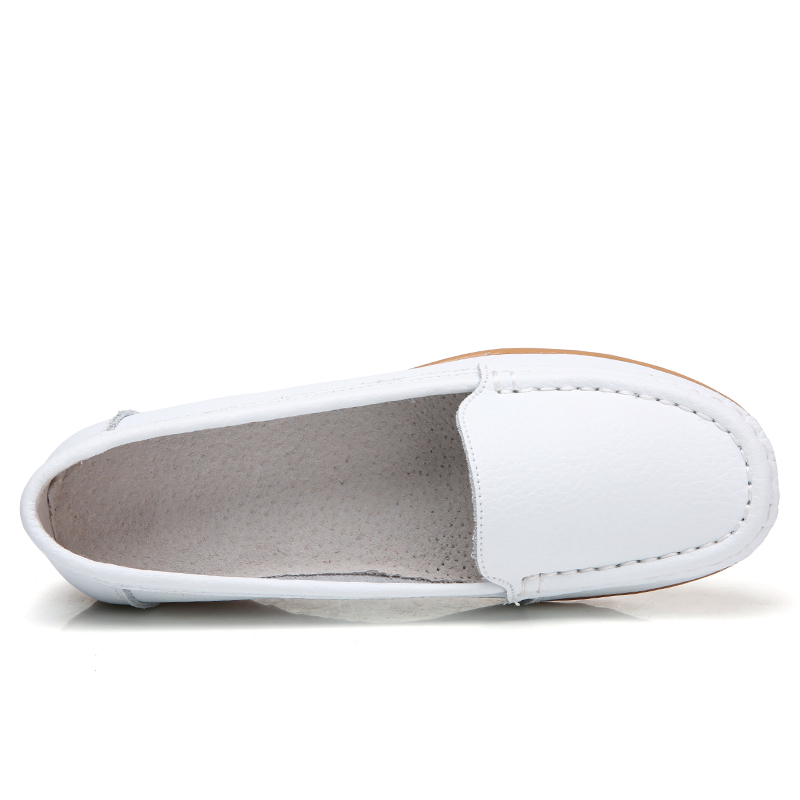 OZERSK New Woman s Shoes Real Leather Moccasins Mother Loafers Soft Leisure Flats Female Ladies Driving
