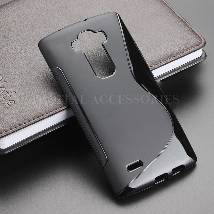 4 Color S-Line Anti Skidding Gel TPU Slim Soft Case Back Cover For LG G Flex 2 H959 Mobile Phone Rubber silicone Cases