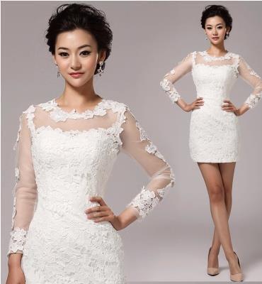 Robe courte soiree blanche