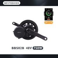 Bafang BBS02B 48V750W bbs02 electric motor electric bike kit electric bike conversion kit velo electrique motor wheel